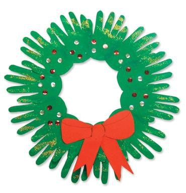 Christmas Wreath Crafts For Kids Childfun