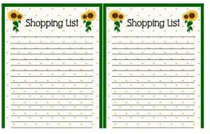 shopping-list-sun-flowers