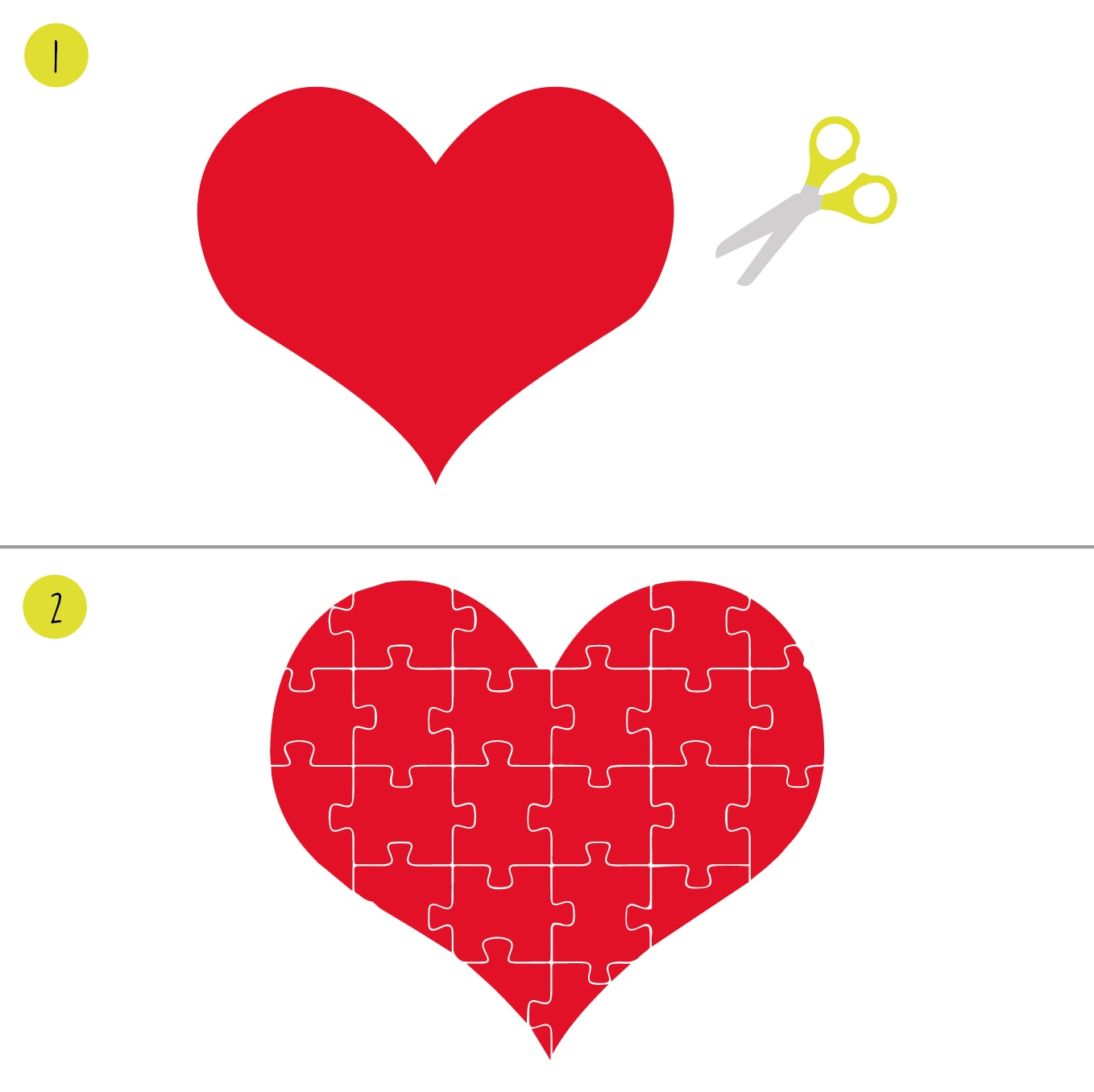 heart puzzle activity - Valentines Day Arts And Crafts