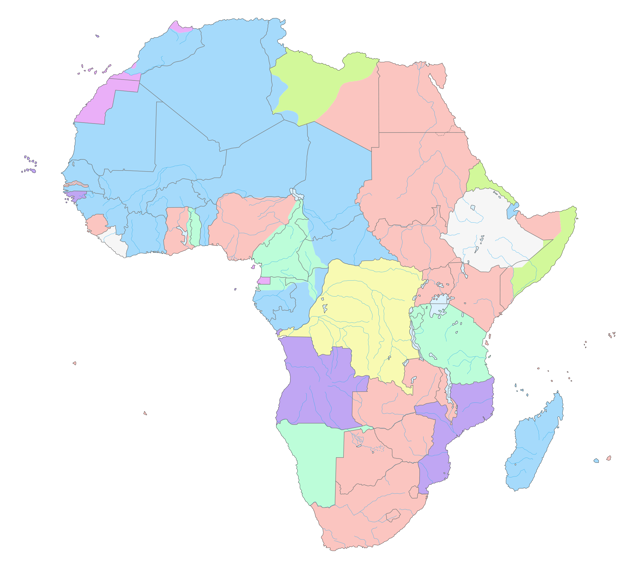 Map Of Africa Ks1.Africa Themed Activities For Kids Childfun