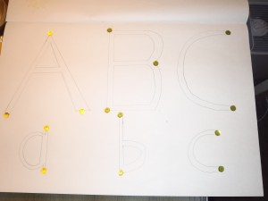bubble letters activity