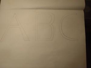bubble letters start