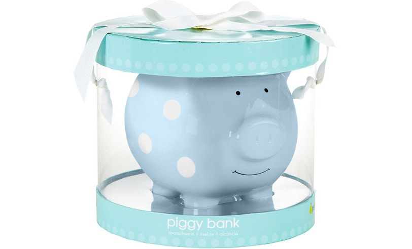 "SAVE COINS AND DOLLARS BLUE, PINK, MORE MINI PIGGY BANK 5/""X4/""X4/"" - PICK COLOR"