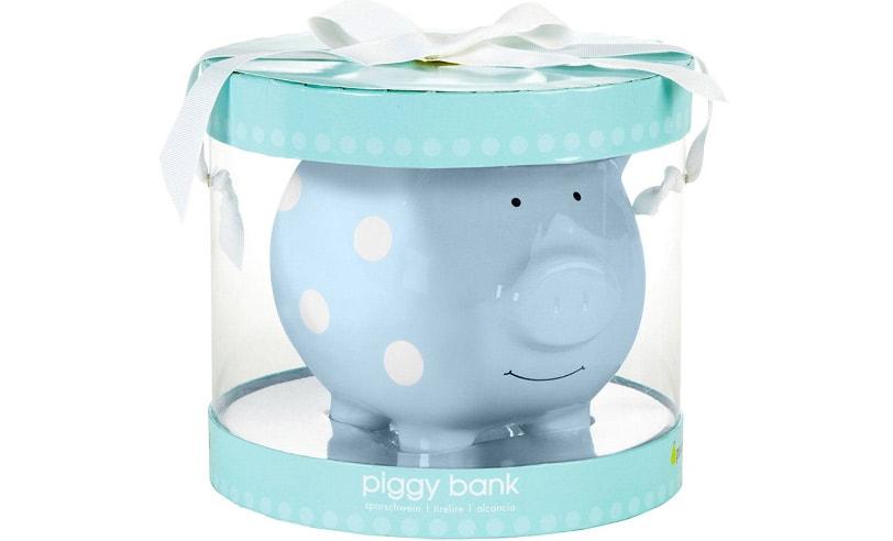 A classical piggy bank for kids.