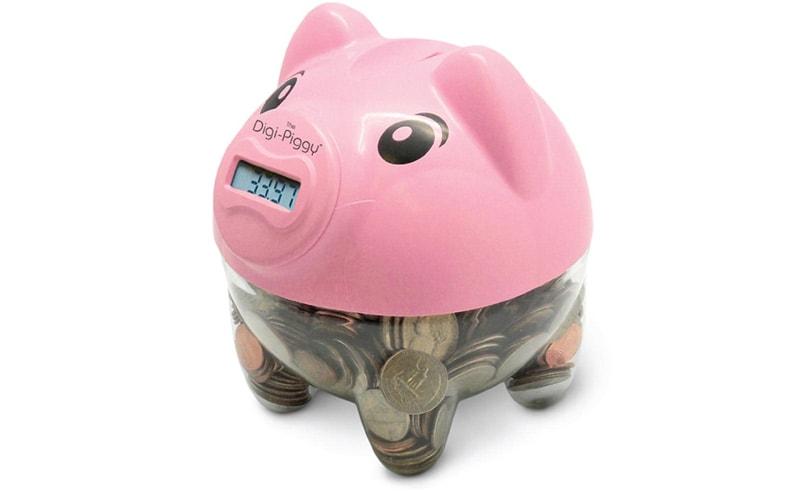 This little piggy counts your money.