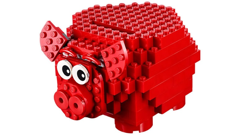 The Lego Piggy Bank is amazing