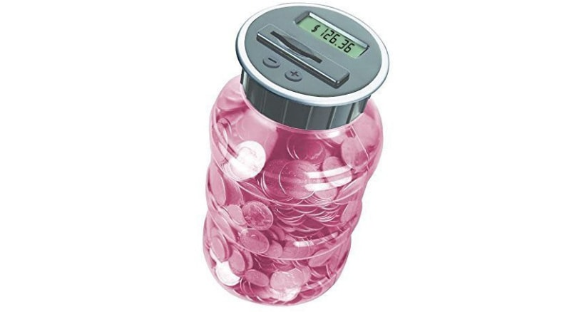 A jar that counts your cash for you!