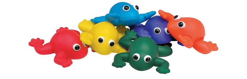 Sportime Indestructible Bean Bag Frogs
